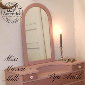 1980´er spejl med Massai mix med Milk B18,5xH80,5 cm