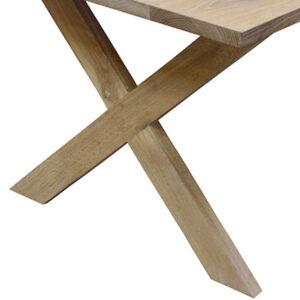 Plankebord med kryds træben