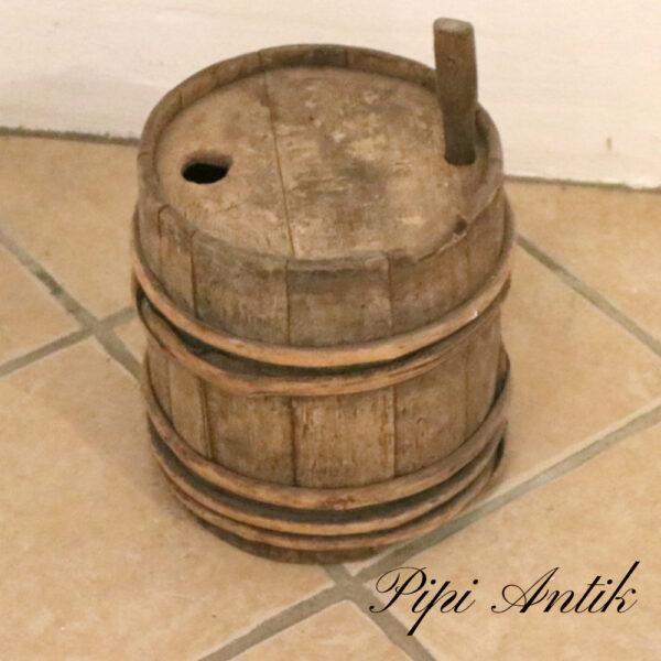Lille træ øl tønde uden kork Ø24xH28 cm