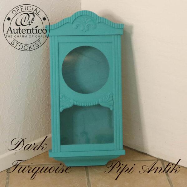 Mini vitrine i Dark Turquoise B32xH66xD12 cm