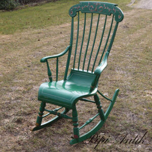 Grøn gyngestol B57x5xD56xH110 ryg sædet 46 cm
