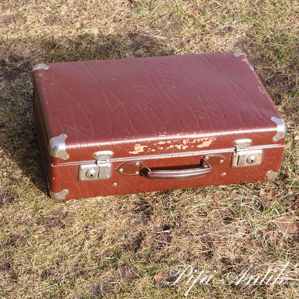 32 Brun lille pap kuffert retro L50,5xD15xH32 cm