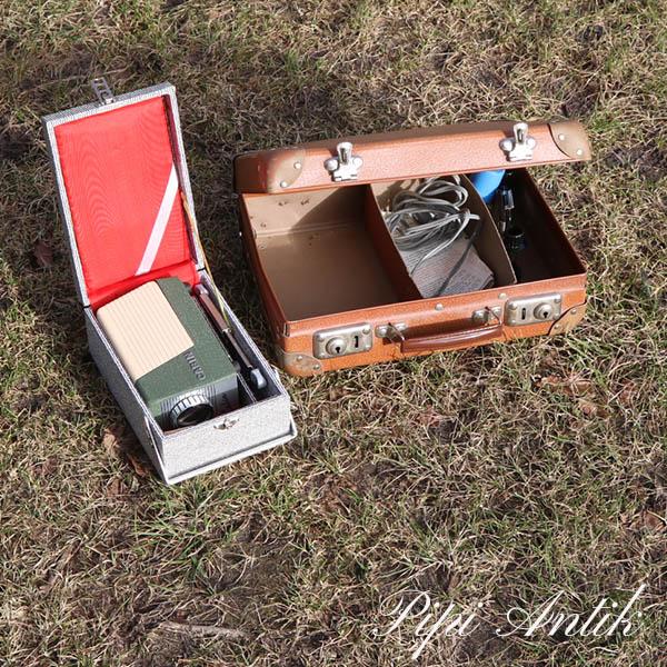34 Cabin lysbillede fremviser med mini brun kuffert