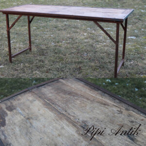 Industribord patineret natur bordplade L153x59xH70 cm