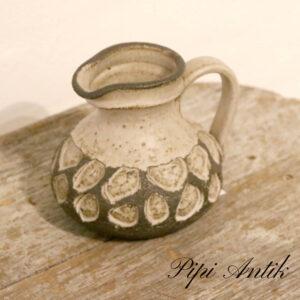 Løvemose keramik kandevase Ø12xH12 cm naturfarvet og beige