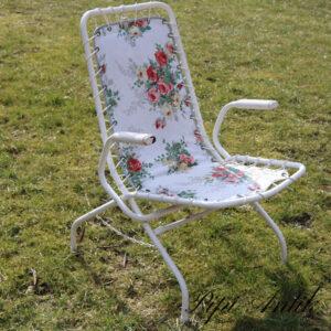 Retro klapstole med blomstermotiver B xD40xH82 cm