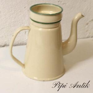 07 Madam Creme Emalje kaffekande med tragt uden låg G&M Ø15,5xH18 cm