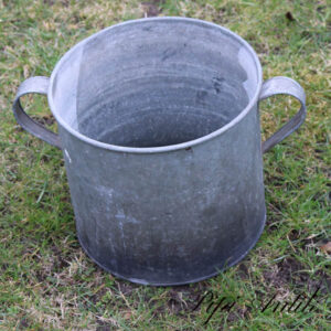 07 Zink plantespand Ø29xH26 cm