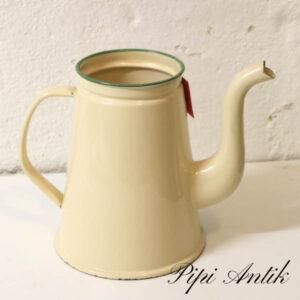 08 Madam Creme emalje kaffekande uden låg Ø12xH18,5 cm