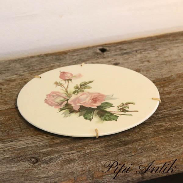 Rose platte Ø23 cm med ophæng