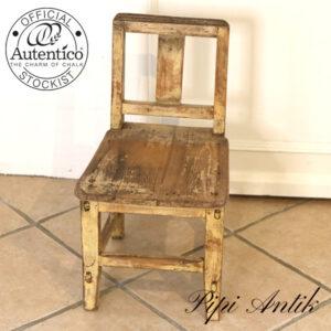09 Miniput Medium børnestol carrygul patineret L305xD34xH55 cm sædet 28,5 cm