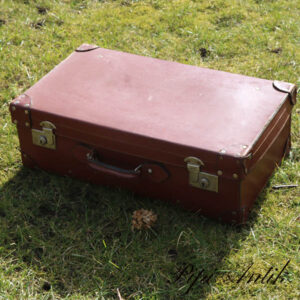 Retro læder kuffert LL66xB37xD20 cm