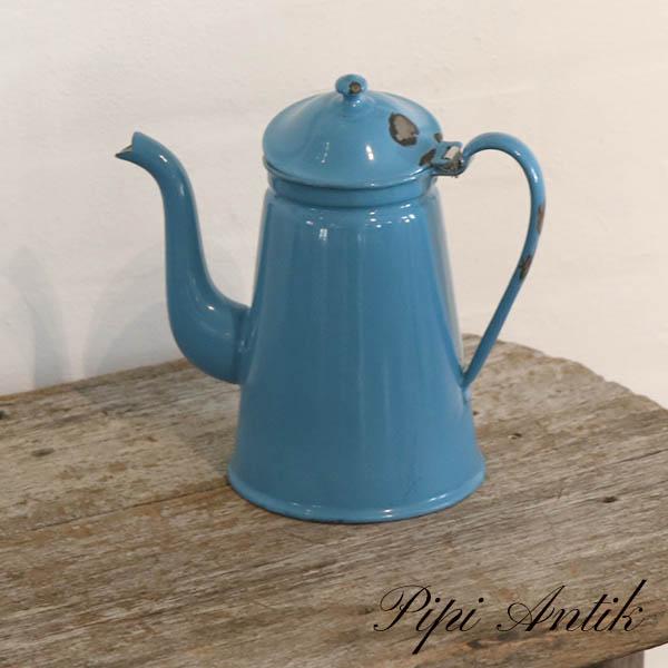 10 Madam Blå kaffekande Ø12xH21 cm