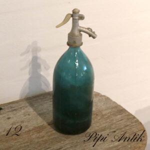 12 Tyrkis Blå sifon Ø10x33 cm