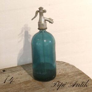 14 Tyrkis Blå sifon Ø10xH32 cm