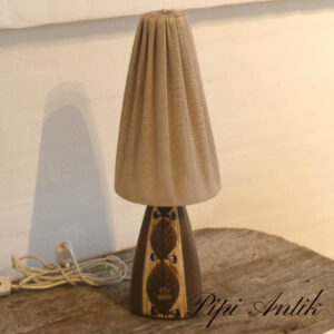 Retro keramiklampe mønstret L11xB11xH46cm