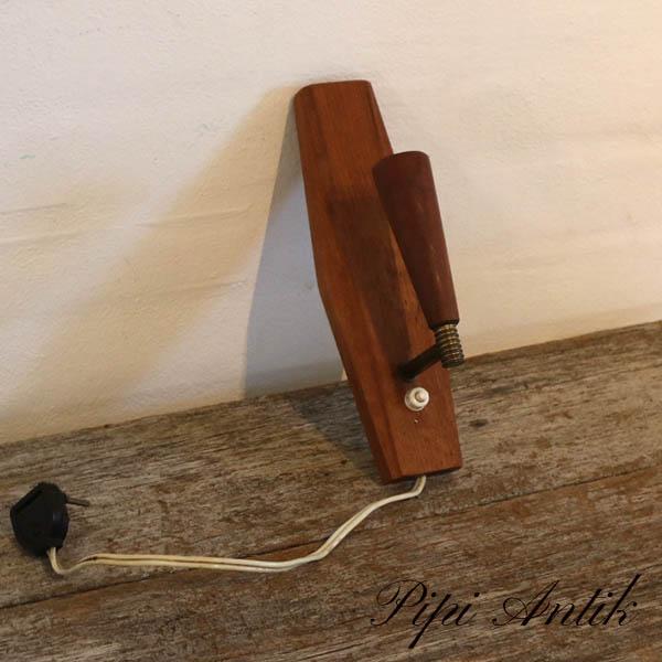 16 Teak væglampe H25xB7,5xD11 cm