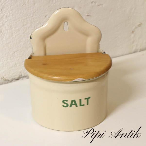 17 Madam Creme emalje salt G&M B15,5xH19 cm