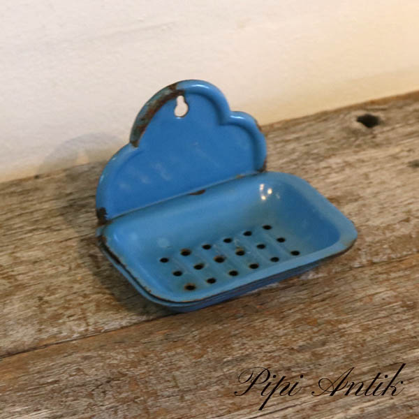 20 Madam blå sæbeskål L13xD9,5xH9 cm