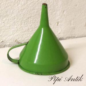 22 Madam grøn emalje tragt Ø10xH13 cm