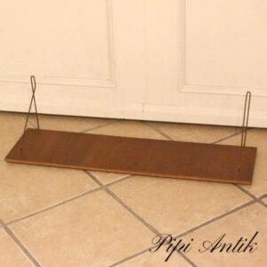 Teak hylde lamineret L80,5xD21xH21 cm