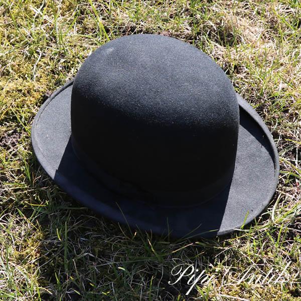 27 Bowler hat sort str 6 trefjerdel