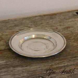 33 Sølvplet fad Ø15,5 cm