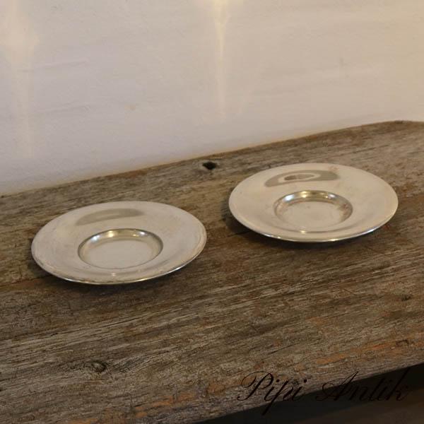 34 Sølvplet tallerken lille Ø16 cm