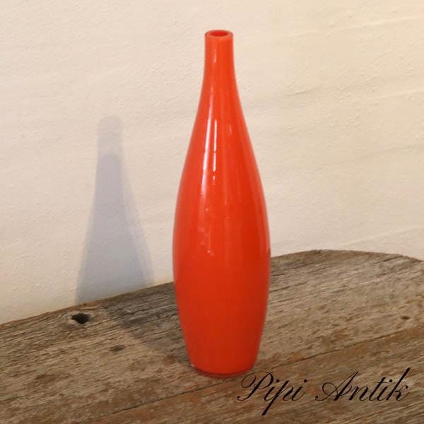 Orange glasvase buttet Ø8xH16 cm