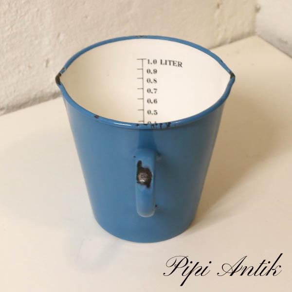 44 Madam Blå litermål Ø14xH14 cm