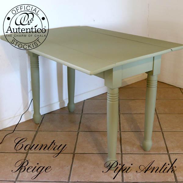 Country Beige spisebord L100xB84xH76 cm med 2 klapper