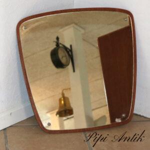Retro teak spejl 53x52 cm