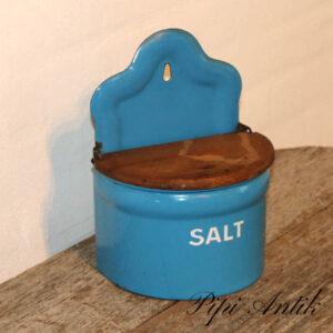 04 Madam Blå emalje saltkar lille L11xD11xH24 cm