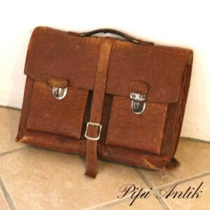 Læder skoletaske retro LL44,5xD11xH