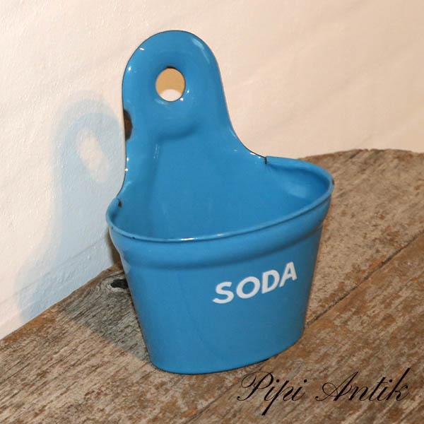 05 Madam Blå soda kar L15,5xD10xH20 cm