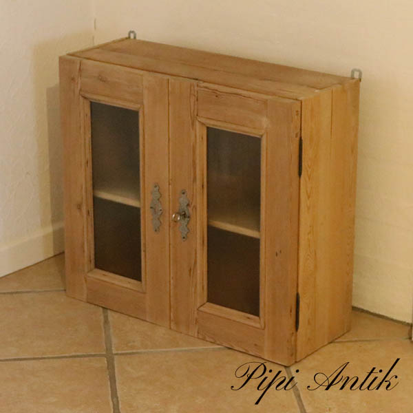 Afsyret væg vitrine skab B58xD22xH52,5 cm
