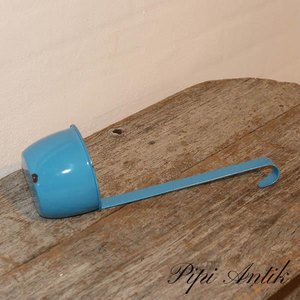 08 Madam Blå emalje øseske Ø10,5xL31 cm