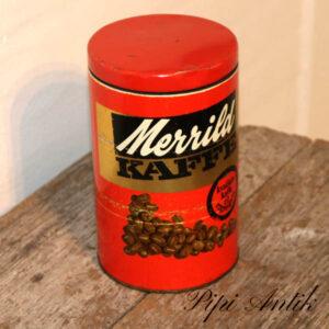 Kaffedåse rød Merrild Ø11,5xH18,5 cm