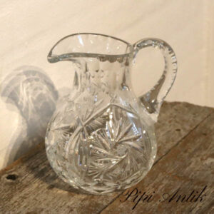 Krystal vandkande Ø14xH19,5 cm