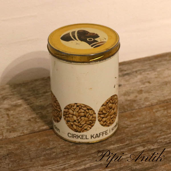 Retro CIRKEL kaffedåse Ø11xH16 cm