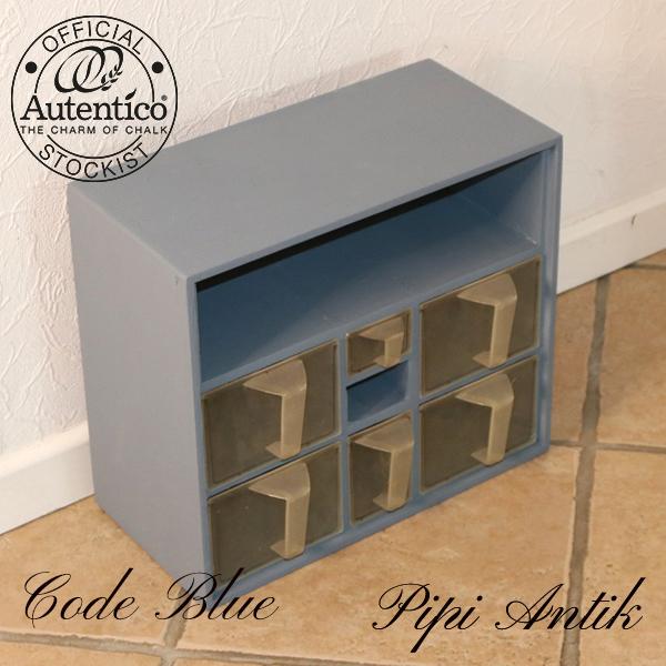 Code Blue krydderihylde med plastik skuffer L39xD19xH34 cm