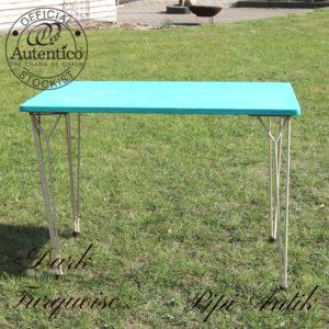 Dark Turquoise creme bens spisebord L101x61xH72 cm