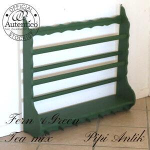 Tallerkenrække Fern Green Tea mix L83,5xD18xH76 cm