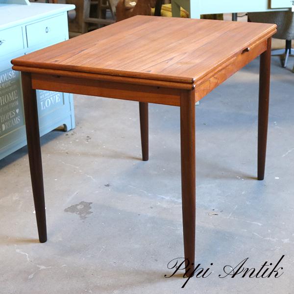 Teak lille spisebord med hollandsk træk L100xB70xH75cm