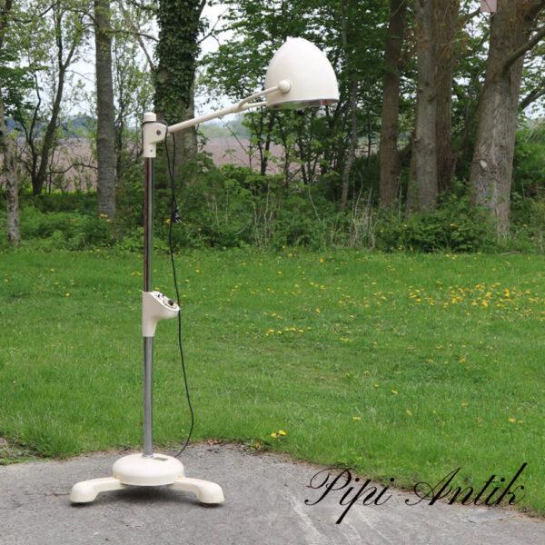 Retro lægelampe rustikt råhvid til alm pære Ø28skærmxFodØ60xH66cm