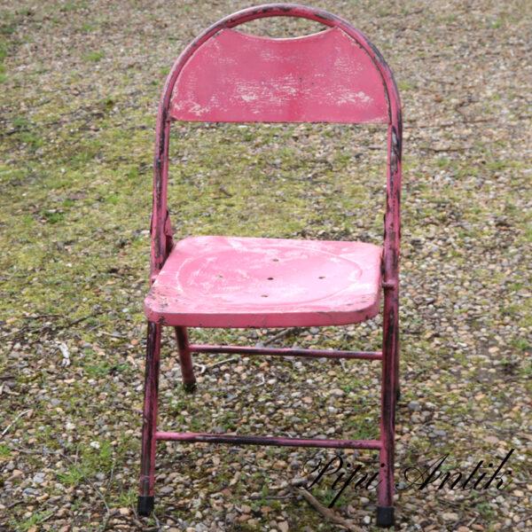 01 Metal stol pink og gul B44xD39xH81 sædet 43 cm