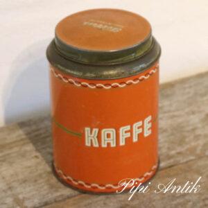 Rød kaffedåse Ø12xH16,5 cm