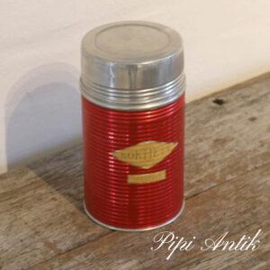 Retro rød alu termoflaske Ø10xH19cm