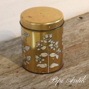 Guld kaffedåse Ø12xH15,5 cm