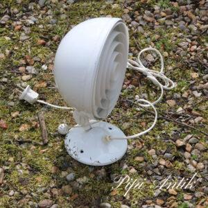 Hvid retro metal væglampe stor Knud Christensen Agentur Ø20xH28 cm